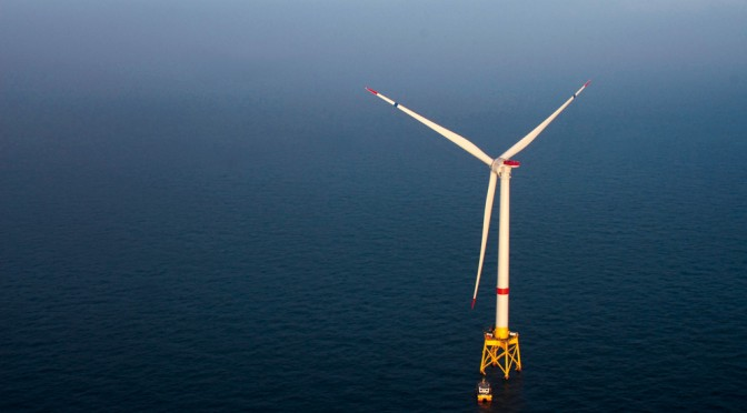 Offshore wind farm will use five 6-megawatt wind turbines manufactured by Alstom