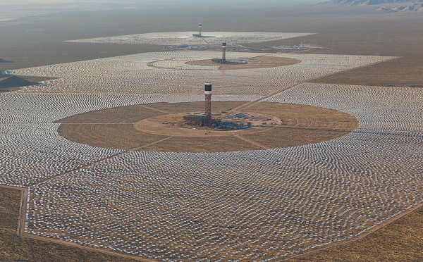 Ivanpah concentrated solar power (CSP) plant in full service