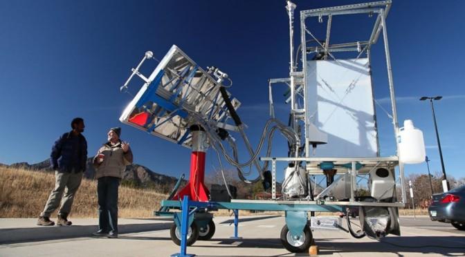 Solar power toilet minus water