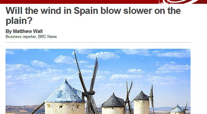 Will the wind energy in Spain blow slower on the plain?