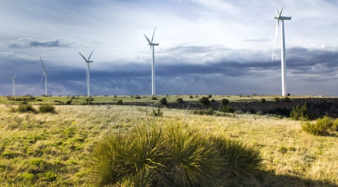 EDF Renewable Energy celebrates the Hereford Wind Power Project with Vestas and GE wind turbines