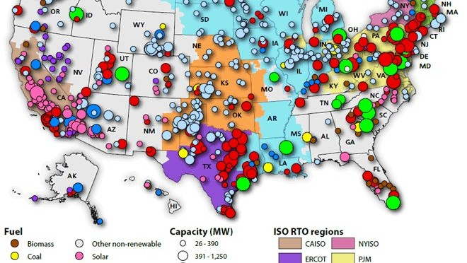 August REVE Page - Map of the wind farms in the us