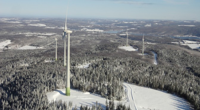 Wind energy is the lowest-cost source of new electricity in Canada