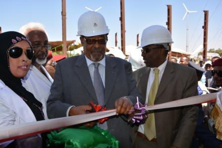 Somaliland:President Silanyo Launches the Somalia's first wind farm