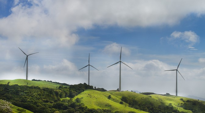 Wind energy: Acciona installs wind farm with 33 wind turbines in Costa Rica