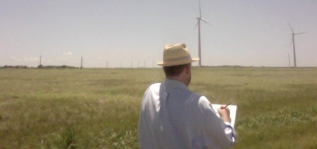Artist Brian Ritchard captures American wind power with his brush
