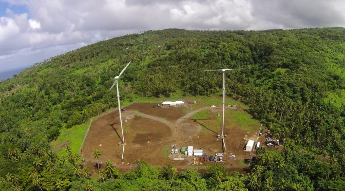 First wind farm on the Pacific island nation of Samoa