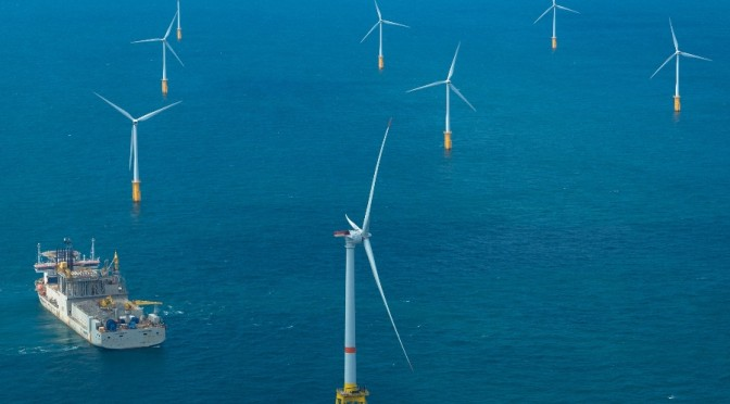 Alstom's Haliade offshore wind turbine produces its first kWh off the Belgian coast