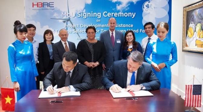 HBRE Wind Power Company Selects GE Wind Turbines for Vietnam's Tay Nguyen Wind Farm