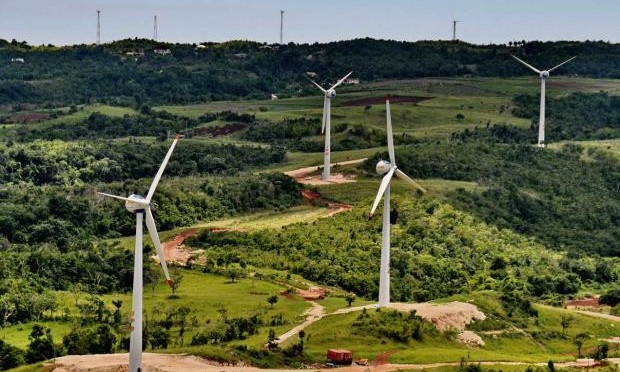 Wind energy in Jamaica:  Wigton III wind farm commissioned by Prime Minister Holness