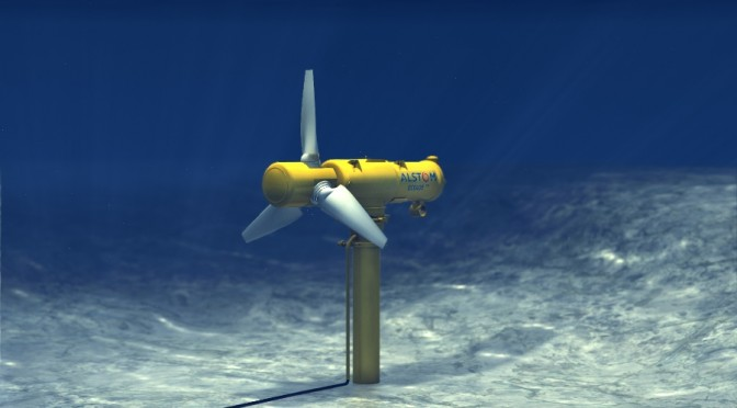 Alstom improves the performance of its tidal energy solutions