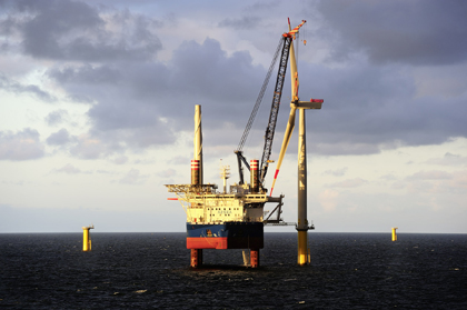 DONG Energy has installed the first of 78 wind turbines at the German offshore wind farm Borkum Riffgrund 1