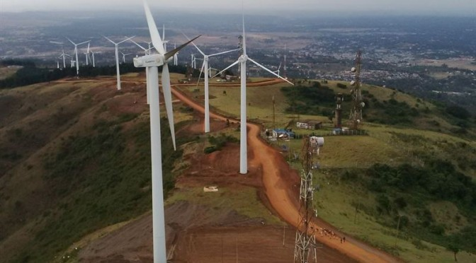 Wind energy in Kenya, Mombasa Cement sets up 36MW wind farm in Kilifi