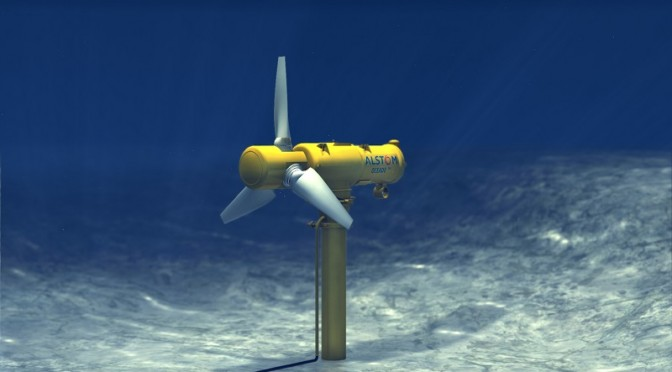 Marine energy: Alstom chosen to equip pilot tidal energy farm at raz Blanchard in France