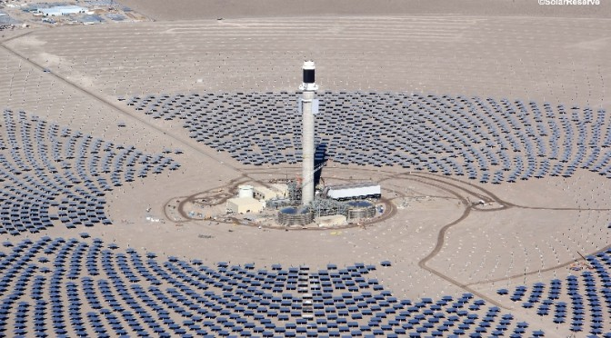 SolarReserve's Crescent Dunes Concentrated Solar Power (CSP) Plant With Energy Storage Awarded Best Project