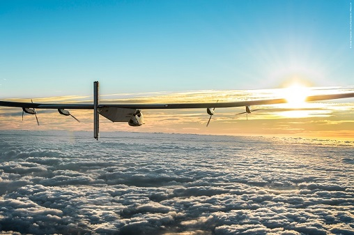 The Solar Impulse plane lands in Spain