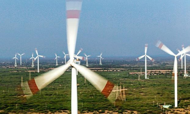 Suzlon gains after India targets 60,000 MW of wind energy