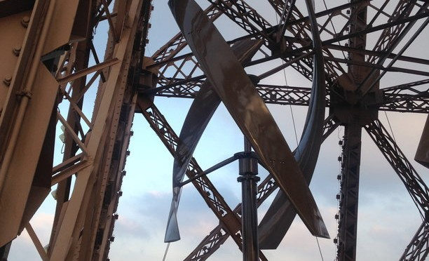 UGE installs two wind turbines at Eiffel Tower