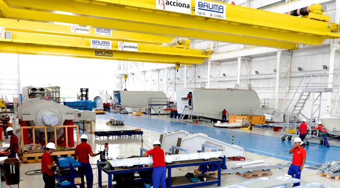 Acciona Windpower totally complies with the requirements for nationally-sourced components to sell wind turbines in Brazil