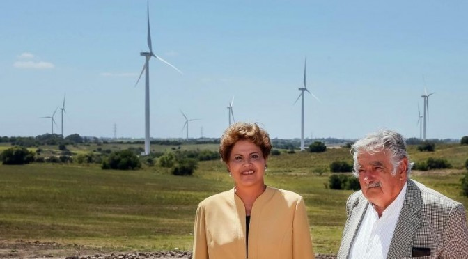 Uruguayan, Brazilian presidents attend opening ceremony of Wind Farm