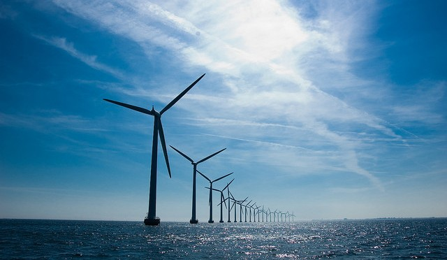 Van Oord's vessel Aeolus installs first wind turbine for Eneco Luchterduinen wind farm