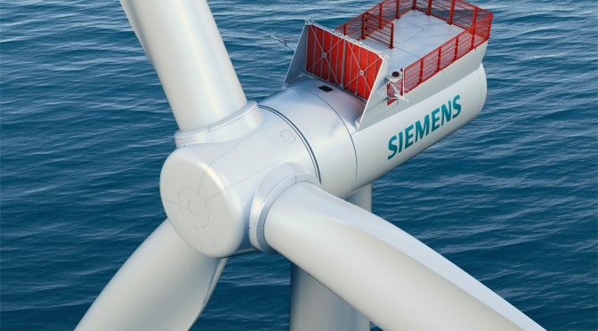 Siemens supplying wind turbines to $3 Billion U.K. offshore wind farm