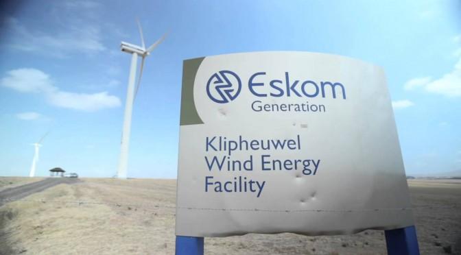 Wind power in South Africa: Eskom wind farm with 46 wind turbines