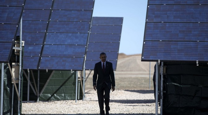 Obama promotes expansion of solar energy