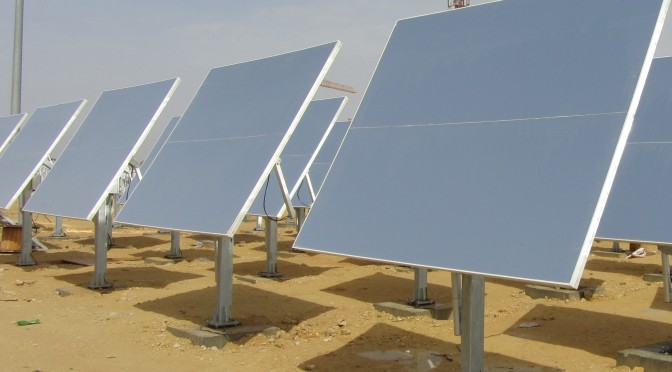 First Concentrated Solar Power (CSP) heliostat field in Saudi Arabia