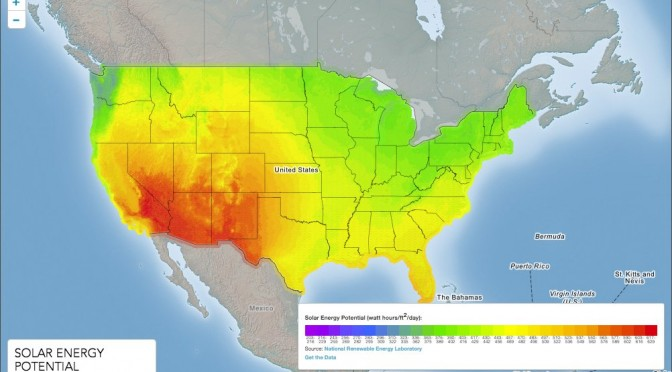 U.S.: 6,967 MW of photovoltaic (PV) and concentrated solar power (CSP)