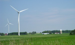 Wind farm in Wisconsin