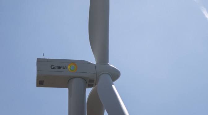 Gamesa's G114-2.5 MW prototype in Alaiz (Navarre, Spain) starts to generate wind energy