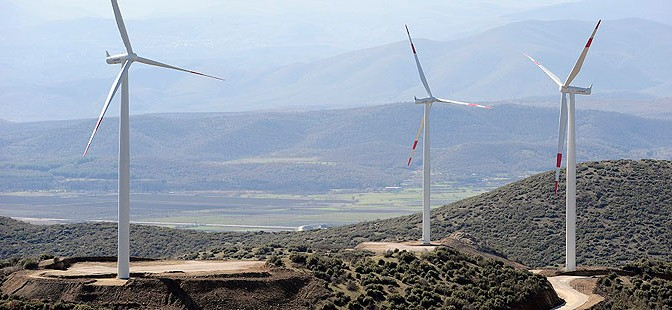 Macedonia's first wind farm has 16 wind turbines