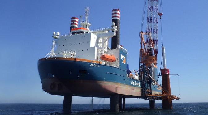 Van Oord installs Gemini wind power project's first monopile