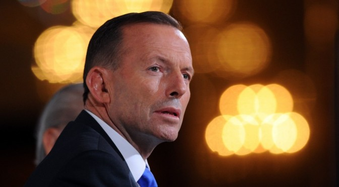 Australian Prime Minister Tony Abbott under fire for order to stop wind power and solar energy i