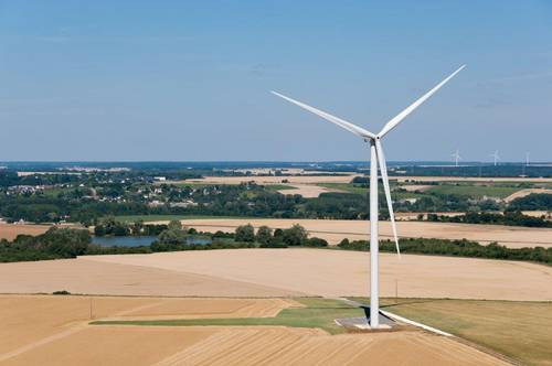 Commissioning of the Les Monts wind farm in France