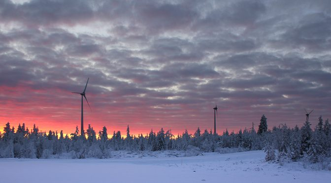 Swedish wind farm Nylandsbergen completed