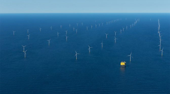Offshore wind farm Rampion in the English Channel has started generating electricity