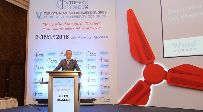 WindEurope applauds Turkish wind energy ambition