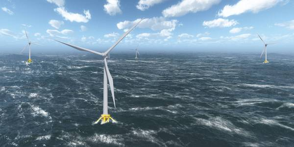 Mammoet participates in constructing the world's first floating wind farm