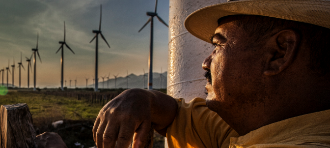 Wind energy in Mexico, Elecnor builds a 56 MW wind farm in Mexico