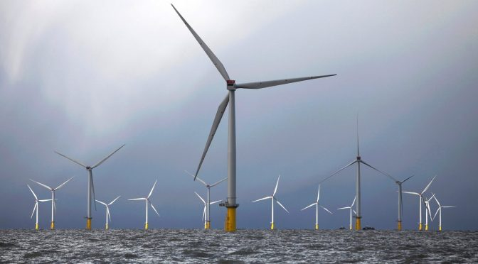 Wind energy  in the UK generated a record 10,104MW on 7 December 2016