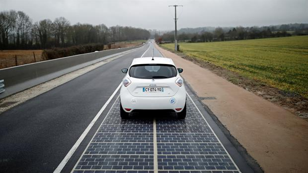 France installs world's first solar road