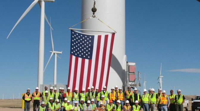 Over 100,000 people now employed by the U.S. wind energy