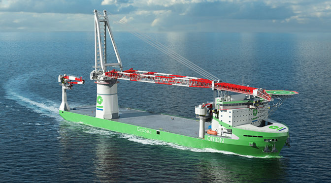 DEME orders next generation offshore installation vessel 'Orion'