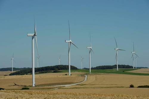 How much does electricity from wind energy in France?