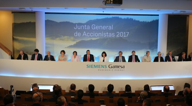 Siemens Gamesa Renewable Energy holds its first Shareholders General Meeting