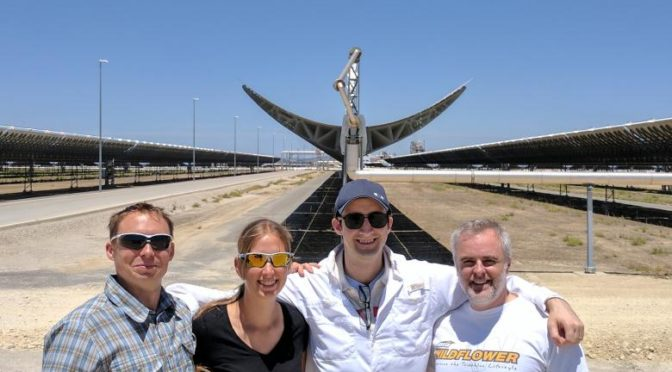 Google X visits the Gemasolar and Valle 1 and Valle 2 Concentrated Solar Power plants