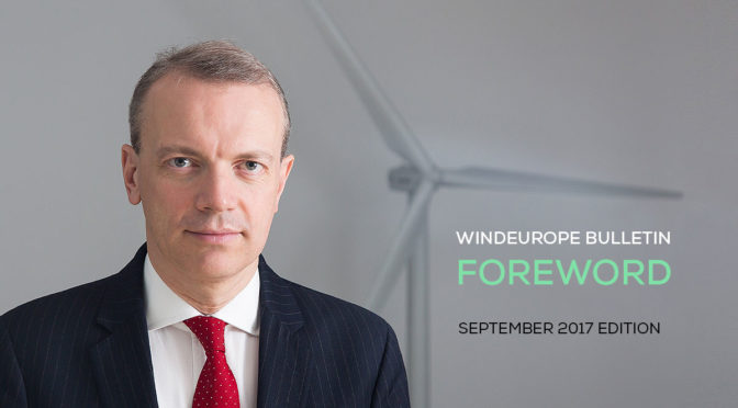 Autumn 2017 will give us a number of key pointers of where the wind industry will be in the next decade