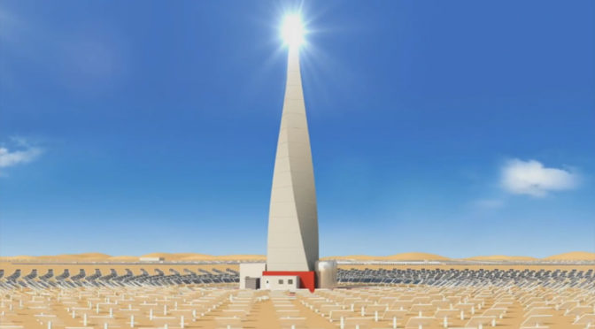 Dubai to get Concentrated Solar Power Day and Night without subsidy at Lower Cost